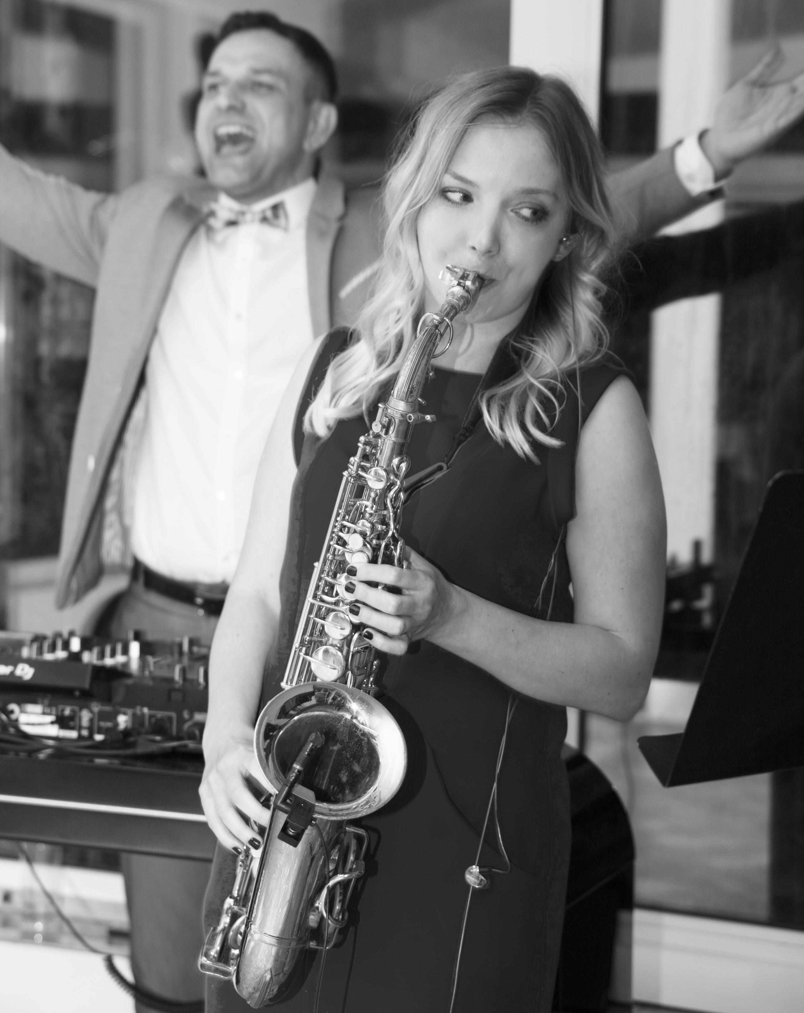 Saksofon i DJ KaBi Bydgoszcz